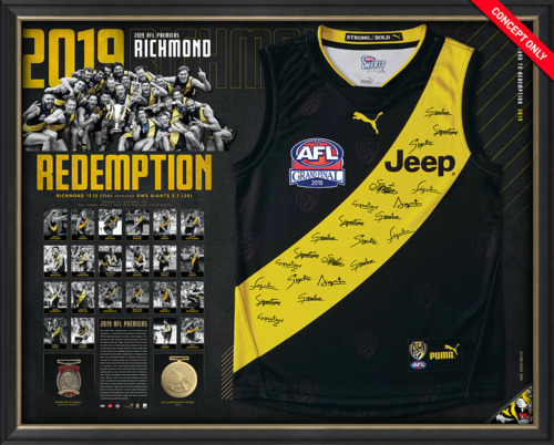 Photo of 2019 Premiers Team Signed Guernsey - Edition #36