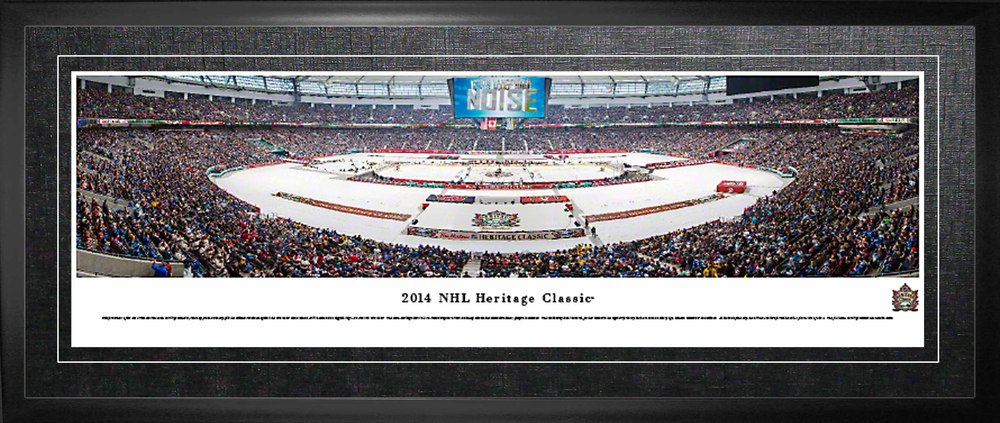 Vancouver Canucks Framed Panorama 2014 Heritage Classic