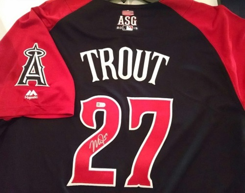 size 40 6d63f 976de MLB Auctions | Mike Trout Autographed 2015 All-Star Game Jersey