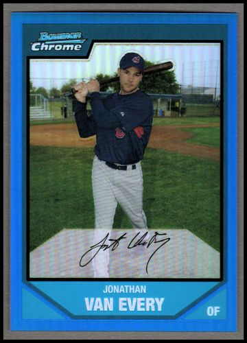 Photo of 2007 Bowman Chrome Prospects Blue Refractors #BC137 Jonathan Van Every