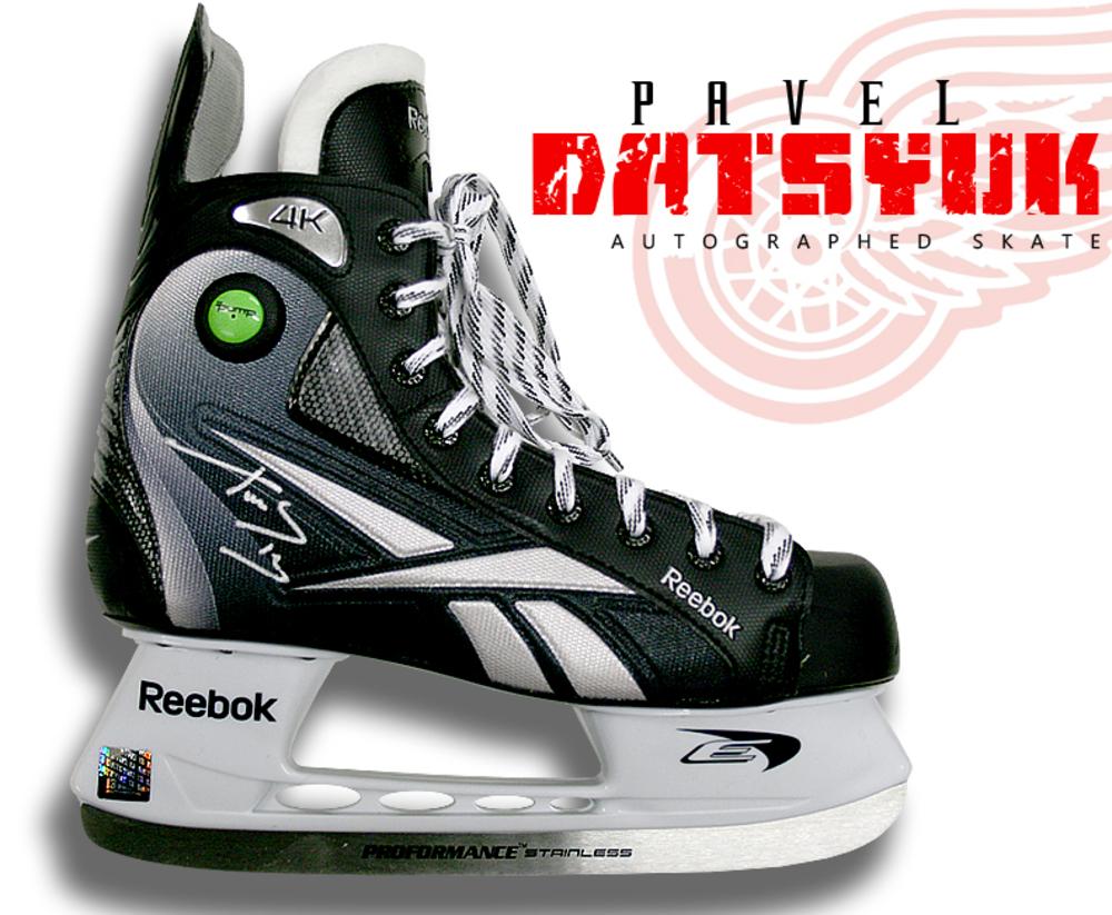 PAVEL DATSYUK Signed RBK Skate - Detroit Red Wings