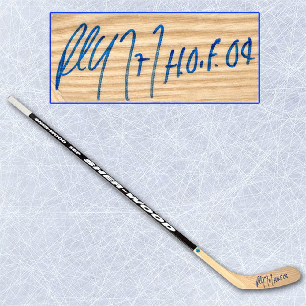 Paul Coffey Autographed Sherwood Player Model Hockey Stick with HOF Inscription
