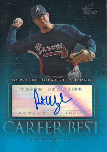 Photo of 2009 Topps Career Best Autographs #PM Peter Moylan UPD
