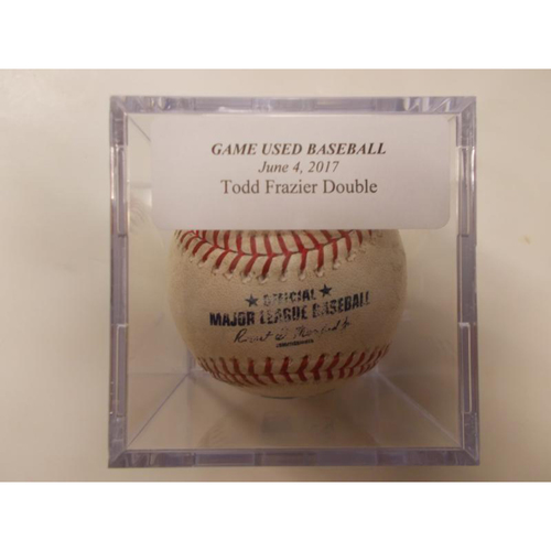 Game-Used Baseball: Todd Frazier Double