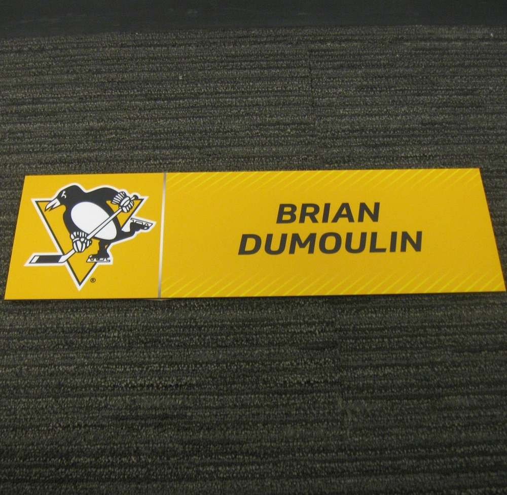 Brian Dumoulin 2017 Stanley Cup Final Media Name Plate - Pittsburgh Penguins
