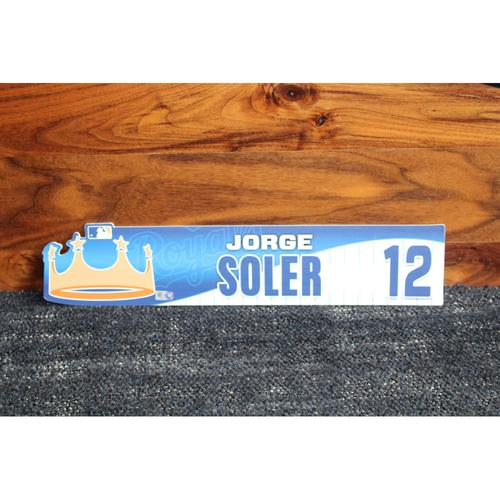 Game-Used Locker Name Plate: Jorge Soler