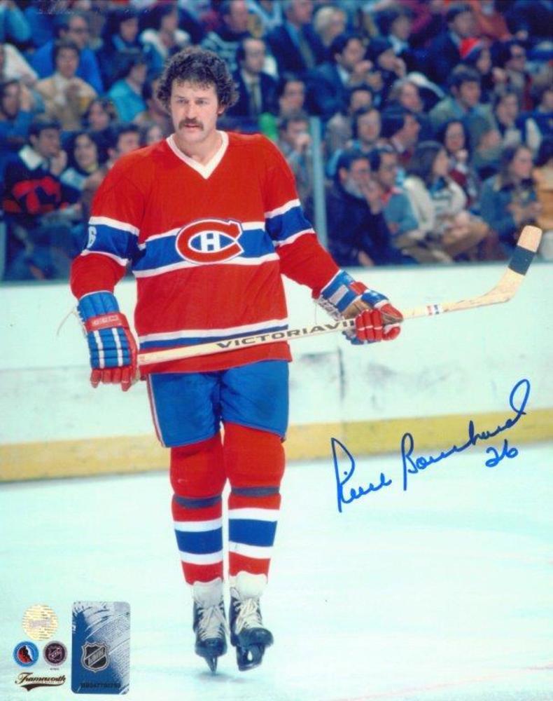 Pierre Bouchard Signed 8x10 Unframed Canadiens