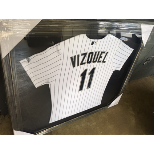 Photo of Omar Vizquel Framed Autographed Jersey