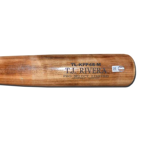 Photo of T.J. Rivera #54 - Team Issued Bat - Beige Tucci Lumber Model - 2017 Season