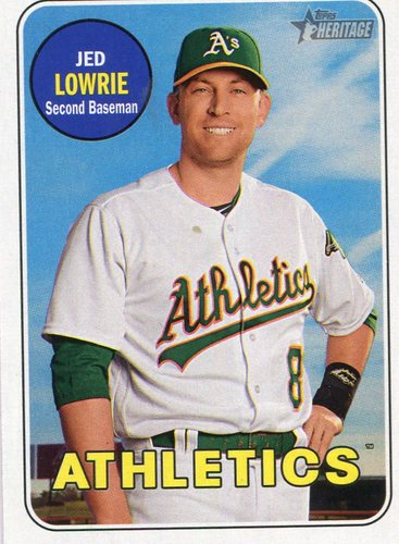 Photo of 2018 Topps Heritage #311 Jed Lowrie