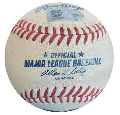 Photo of Game-Used Baseball from Pirates vs. Cardinals on 8/26/14 - Gerrit Cole Strikeout Pitch