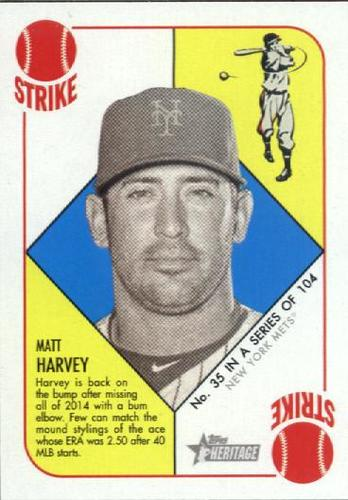 Photo of 2015 Topps Heritage '51 Collection #35 Matt Harvey
