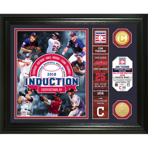 Photo of Serial #1! Jim Thome Class of 2018 Banner Bronze Coin Photo Mint