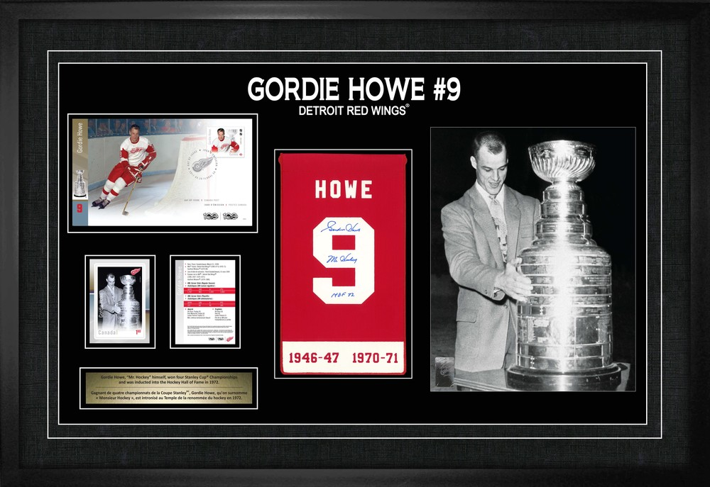 Gordie Howe Signed Canada Post Legend Collage Red Wings L/E 358