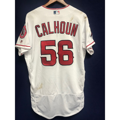 Photo of Kole Calhoun Game Used Home Jersey