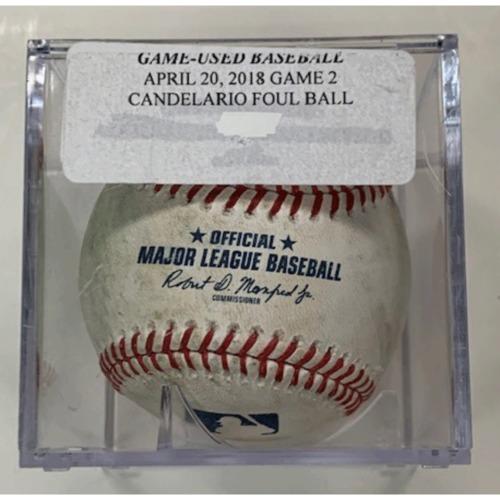 Photo of Game-Used Baseball: Jeimer Candelario Foul Ball