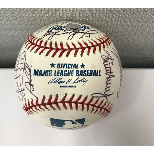 Photo of 2005 Atlanta Braves Hall Of Fame Luncheon Autographed Baseball