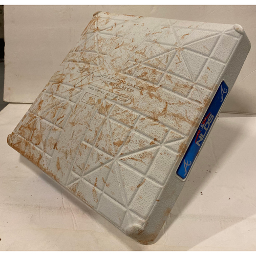 Photo of 2018 NLDS Game Used Base - Third Base Used During 8th Inning - 10/8/18 - Dodgers Clinch