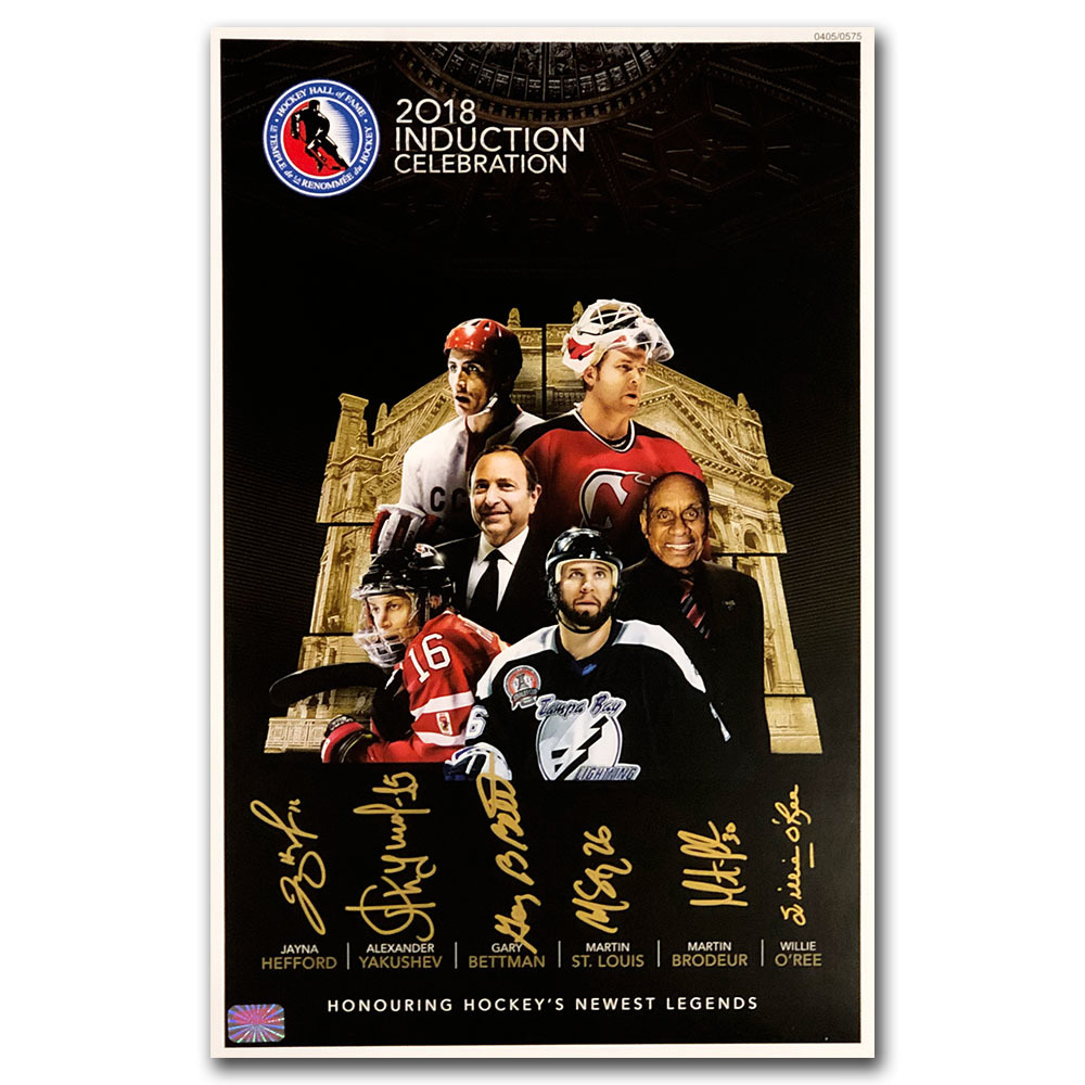 2018 Hockey Hall of Fame 11X17 Poster Autographed by Inductees