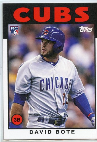 Photo of 2018 Topps Throwback Thursday #207 David Bote/'86 Topps BB