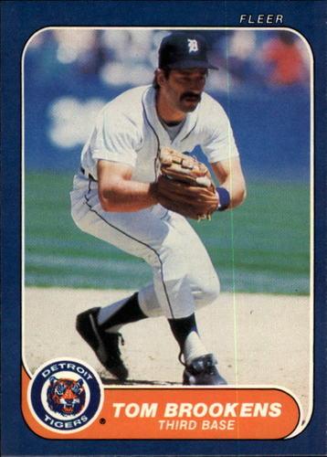 Photo of 1986 Fleer #223 Tom Brookens
