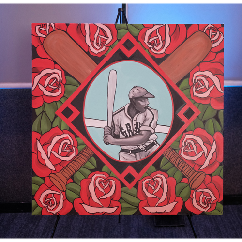 Photo of You're Deserving of Roses Too Acrylic and Latex Painting