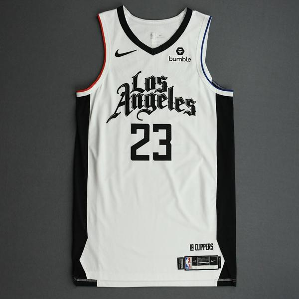 Image of Lou Williams - Los Angeles Clippers - Game-Worn City Edition Jersey - 2019-20 Season - Scored Team-High 26 Points
