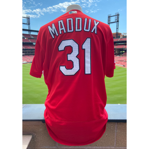 Cardinals Authentics: Team Issued Mike Maddux Batting Practice Jersey