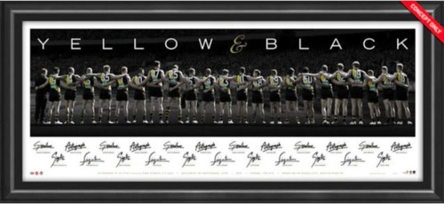 Photo of 2019 Yellow and Black Premiers Team Signed Lithograph- Edition #4