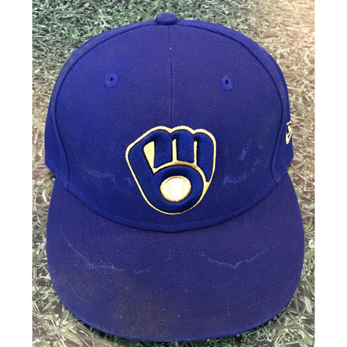 Photo of #7 2020 Team-Issued Milwaukee Brewers Cap