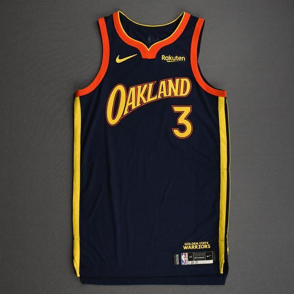 Image of Jordan Poole - Golden State Warriors - Game-Worn City Edition Jersey - 2020-21 NBA Season