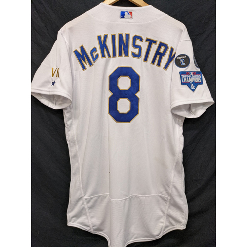 Photo of Zach McKinstry Game-Used Gold Trim Re-Opening Day Jersey - 6/15/21