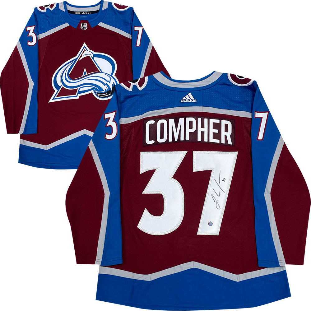 J.T. Compher Autographed Colorado Avalanche adidas Pro Jersey