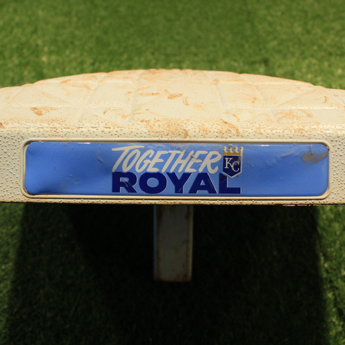 Photo of Game-Used 1st Base, Innings 1-5: Salvador Perez's 45th Home Run of 2021 (OAK@KC 9/16/21)