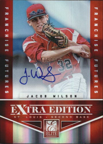 Photo of 2012 Elite Extra Edition Franchise Futures Signatures #97 Jacob Wilson AU/749