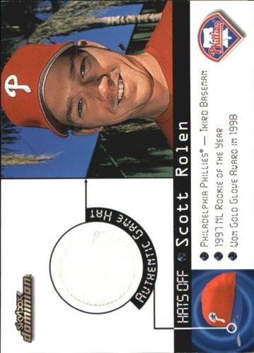 Photo of 2000 SkyBox Dominion Hats Off #13 Scott Rolen