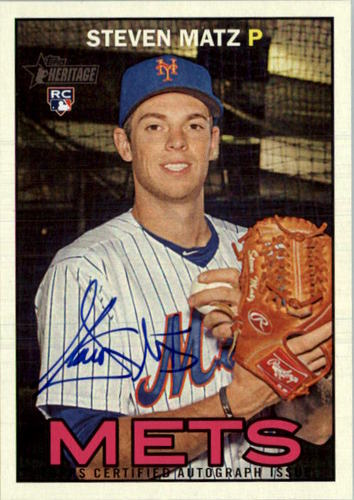 Photo of 2016 Topps Heritage Real One Autographs #ROASMA Steven Matz