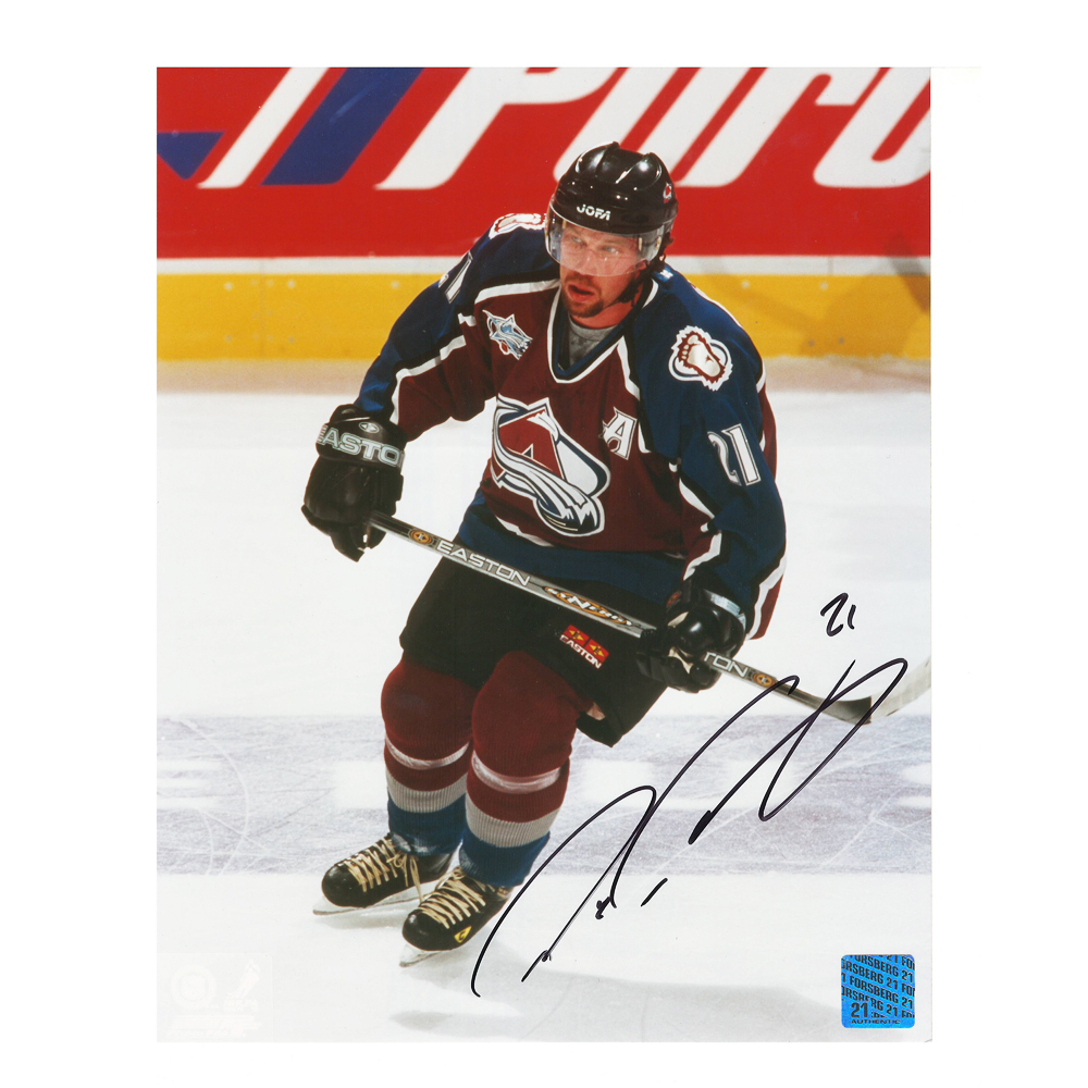 PETER FORSBERG Signed Colorado Avalanche 8 X 10 Photo - 70129