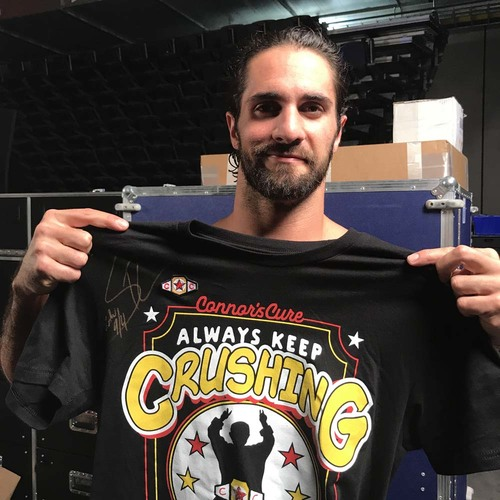 Seth Rollins WORN & SIGNED Connor's Cure