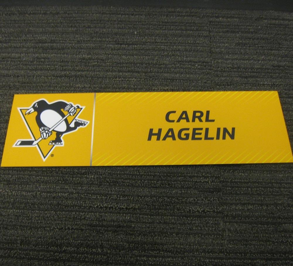 Carl Hagelin 2017 Stanley Cup Final Media Name Plate - Pittsburgh Penguins