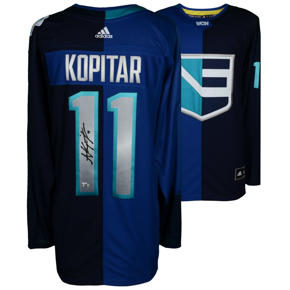 Anze Kopitar Los Angeles Kings Autographed Team Europe World Cup of Hockey 2016 Jersey - NHL Auctions Exclusive