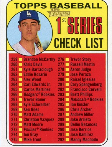 Photo of 2018 Topps Heritage #314 Cody Bellinger CL