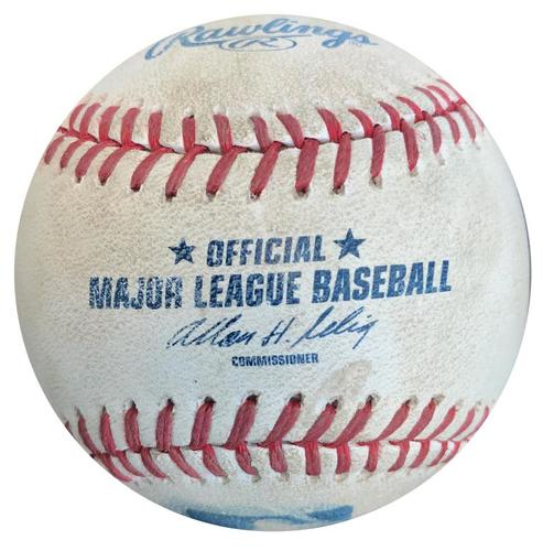 Photo of Game-Used Baseball from Pirates vs. Cubs on 9/13/14 - Jordy Mercer Double