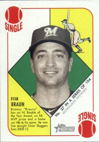 Photo of 2015 Topps Heritage '51 Collection #37 Ryan Braun