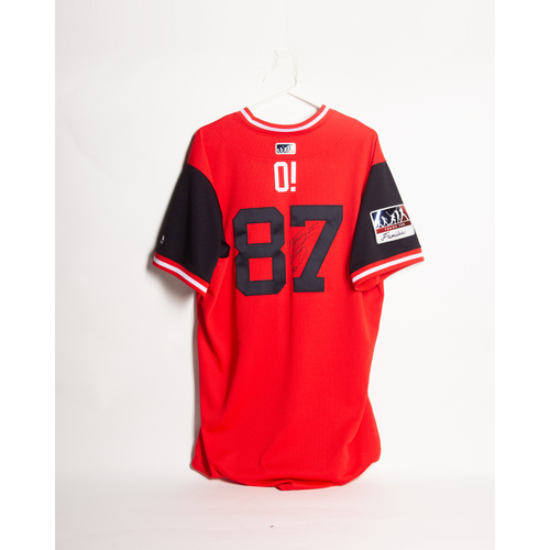 Photo of Autographed Octavio Martinez Players' Weekend Jersey - Winning Bidder Can Pick Up Items Directly From Octavio on September 24, 2018