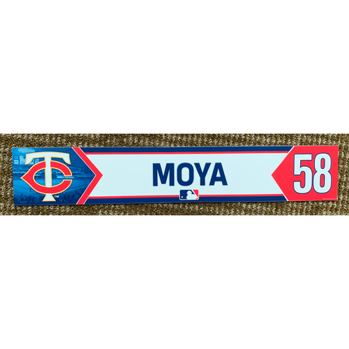 Photo of 2018 Game-Used Gabriel Moya Minnesota Twins Lockertag