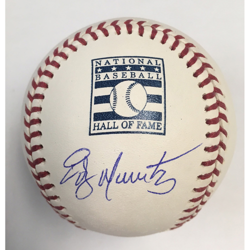 Photo of Edgar Martinez Autographed Hall of Fame Logo Baseball