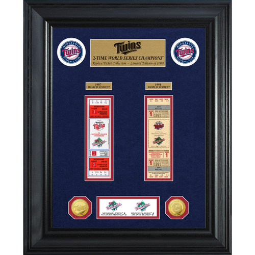 Photo of Minnesota Twins World Series Deluxe Gold Coin & Ticket Collection