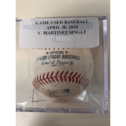 Photo of Game-Used Baseball: Victor Martinez Single