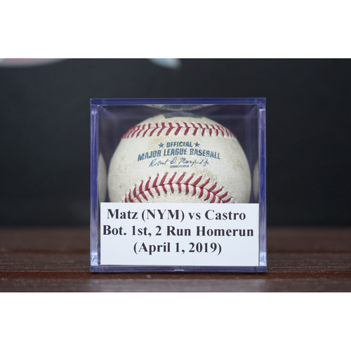 Photo of Game-Used Baseball: Starlin Castro - 2 Run Homerun (April 1, 2019) *First HR of 2019 Season*